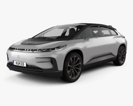 3D model of Faraday Future FF91 2017