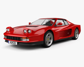 3D model of Ferrari Testarossa 1986