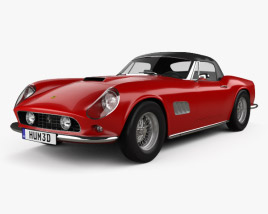 3D model of Ferrari 250 GT California Spider 1958