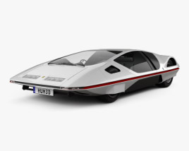 3D model of Ferrari 512 S Modulo 1970