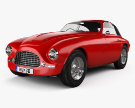 3D model of Ferrari 166 Inter Berlinetta 1950
