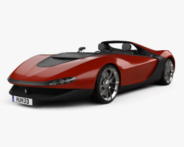 3D model of Ferrari Pininfarina Sergio 2013