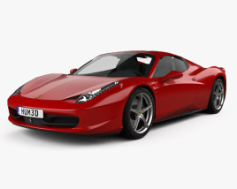 3D model of Ferrari 458 Spider 2010