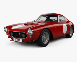 3D model of Ferrari 250 GT SWB Berlinetta Competizione 1960
