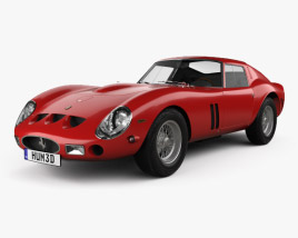 3D model of Ferrari 250 GTO (Series I) with HQ interior 1962