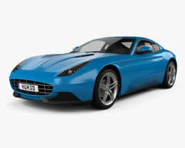 3D model of Ferrari F12 Berlinetta Lusso 2014