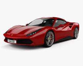 3D model of Ferrari 488 GTB 2016