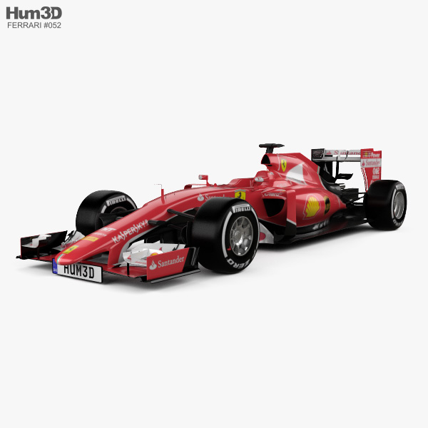 3D model of Ferrari SF15-T 2015