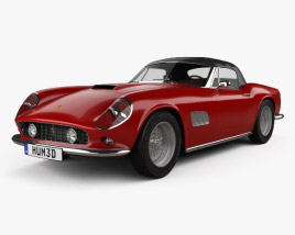 3D model of Ferrari 250 GT California SWB Spyder with HQ interior 1958