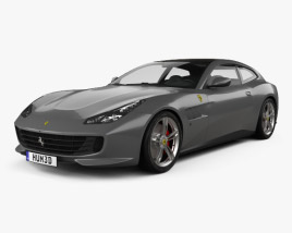 3D model of Ferrari GTC4Lusso 2017