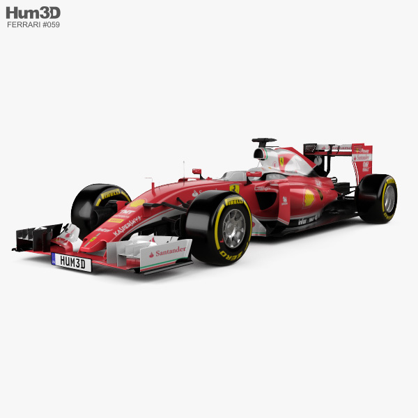 3D model of Ferrari SF16-H 2016