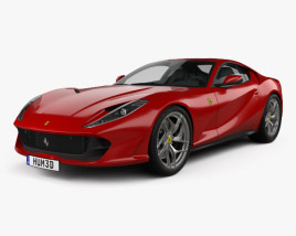 3D model of Ferrari 812 Superfast 2017