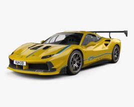 3D model of Ferrari 488 GTB Challenge 2017
