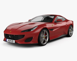 3D model of Ferrari Portofino 2018