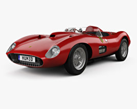 3D model of Ferrari 335 S Spider Scaglietti with HQ interior 1957