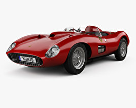 3D model of Ferrari 335 S Spider Scaglietti 1957