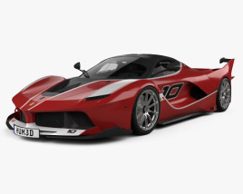 3D model of Ferrari FXX K with HQ interior 2015