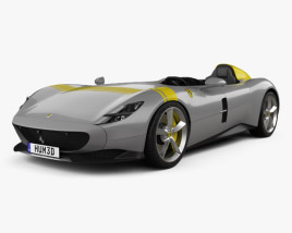 3D model of Ferrari Monza SP1 2018