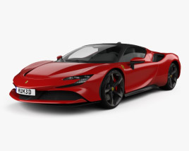 3D model of Ferrari SF90 Stradale 2020