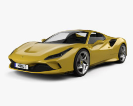 3D model of Ferrari F8 spider 2019