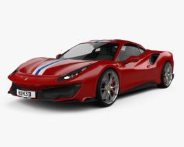 3D model of Ferrari 488 Pista 2018