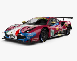 3D model of Ferrari 488 GTE 2019