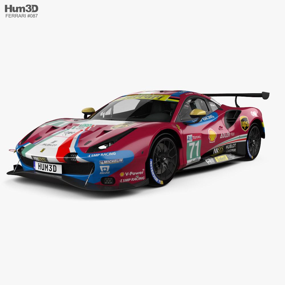 3D model of Ferrari 488 GTE 2019