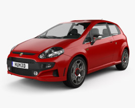 3D model of Fiat Punto Evo Abarth 2011