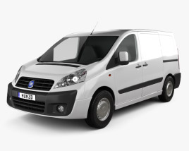 3D model of Fiat Scudo Furgon ShortWheelbase 4-door 2011