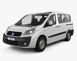 3D model of Fiat Scudo Panorama ShortWheelbase 2011