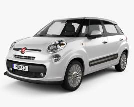 3D model of Fiat 500L 2013