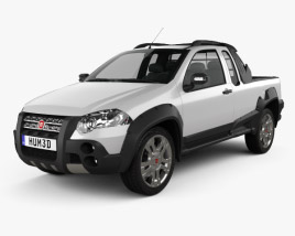 3D model of Fiat Strada Crew Cab Adventure 2012