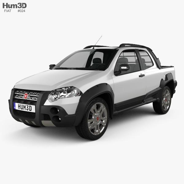 Fiat Strada Long Cab Adventure 2012 3D model