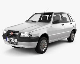 3D model of Fiat Mille Economy (Uno) 2012