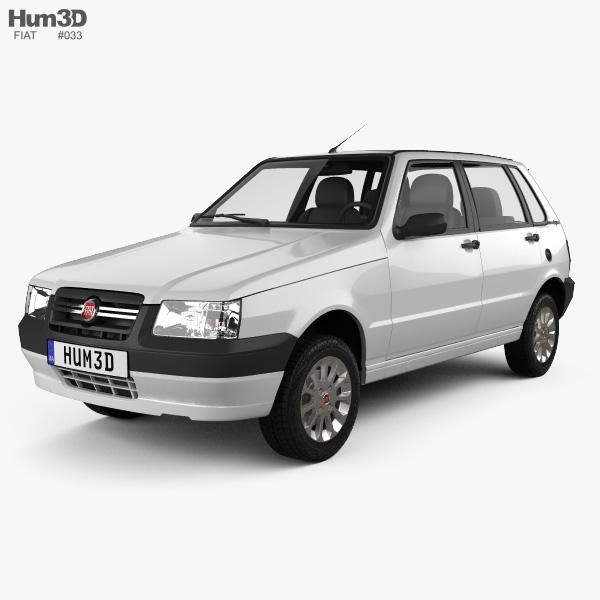Fiat Mille Economy (Uno) 2012 3D model