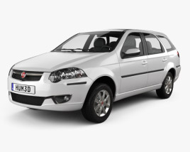 3D model of Fiat Palio Weekend 2012