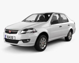 3D model of Fiat Siena 2009