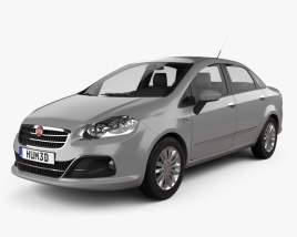 3D model of Fiat Linea 2013