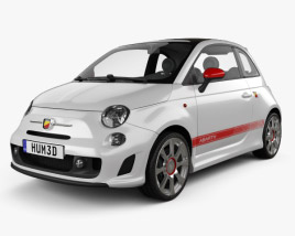 3D model of Fiat 500 Abarth 2012