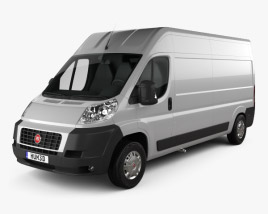 3D model of Fiat Ducato Panel Van LWB 2012