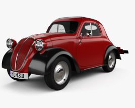3D model of Fiat 500 Topolino 1936