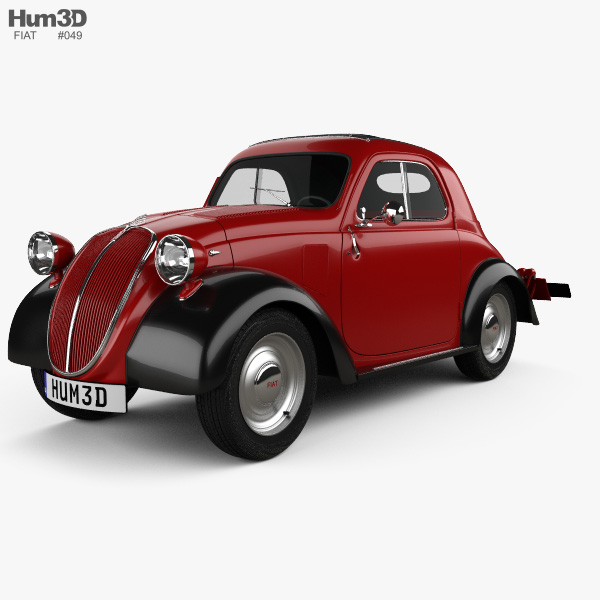 Fiat 500 Topolino 1936 3D model