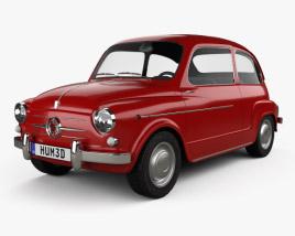 3D model of Fiat 600 D 1960