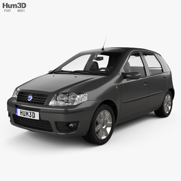 3D model of Fiat Punto 5-door 2003