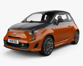 3D model of Fiat 500 Abarth 595 Turismo 2014