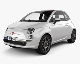 Fiat 500 C 2009 3D model