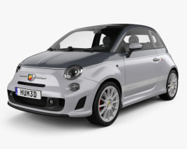 3D model of Fiat 500 C Abarth Esseesse 2010