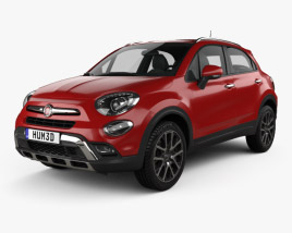 3D model of Fiat 500X Cross 2015