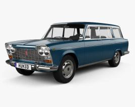 3D model of Fiat 2300 Familiare 1963