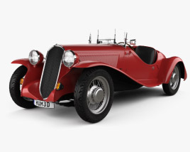 3D model of Fiat 508 S Balilla spyder 1932